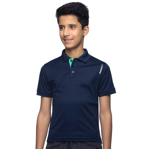 cf7ab0b3a958d0 Boys  Reebok TRAINING Core Poly Polo Tee