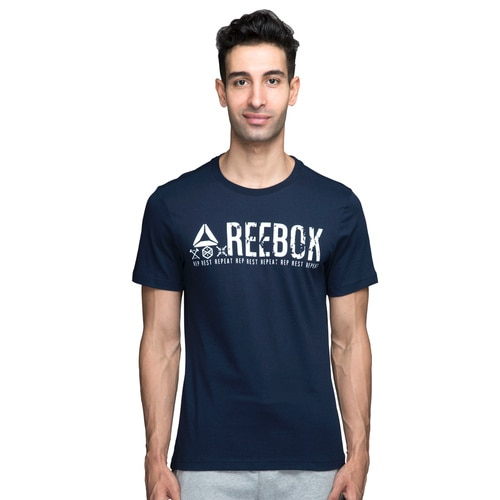 586ada7ec255fe men s REEBOK TRAINING OUTLINE GRAPHIC TEE